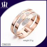 2017 Trendy Fashion Snake Rose Gold Bangle for Girl