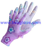 De bloem Afgedrukte Handschoen van de Tuin