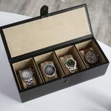 Handels-PU-lederner hölzerner Qualitäts-Geschenk-Uhr-Kasten