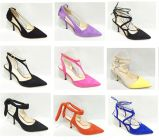 Zapatos calientes de las mujeres de las sandalias del alto talón del ante de la manera de la venta