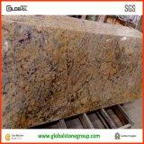 Countertops гранита качества естественные золотистые кристаллический с умеренной ценой