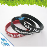 Cheap in serie Custom Silicone Wristband per Business