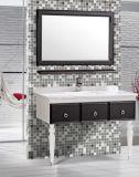 PVC simples Bathroom Vanity de Floor Standing com Mirror