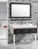 Mirror를 가진 Floor 간단한 Standing PVC Bathroom Vanity