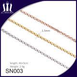 L'oro semplice progetta la collana d'argento Chain delle ragazze
