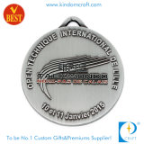 Médaille faite sur commande de récompense d'argent d'antiquité en métal d'émail de mode comme cadeau