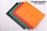 Feuille claire et colorée de qualité de la Chine de PVC