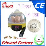 Hete Verkoop van de MiniIncubator van 7 Eieren voor het Uitbroeden (ew9-7)