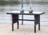屋外の庭のバルコニーのホテルのレセプションの藤のコーナーのソファーセットによって421