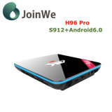 Caixa esperta da tevê de Amlogic S912 do Android 6.0 do núcleo de H96 PRO Octa