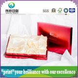 Qualitäts-Drucken-Glanz-Haut-Sorgfalt-Verpackungs-Kasten mit dem silbernen Stempeln