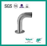 Codo sanitario de la curva 90d del acero inoxidable con la abrazadera (SF1000034)