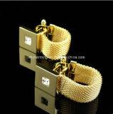 Кристаллический обруч Cufflinks сетки Cufflink вокруг цепных Cufflinks