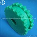 Aduana de la fabricación coloreada dirigir la rueda de engranaje de cadena del plástico UHMWPE