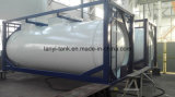 recipiente do tanque do forro do PE de 24000L 4bar para o ácido fluorídrico com válvulas importadas