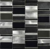 Del metal del acero inoxidable Tille decoración de la casa del mosaico por un suelo de baldosas (FYMLC011)