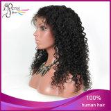 Brasilianischer Jungfrau-Haarafro-verworrene lockige volle Spitze-Perücke