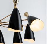 10ライトの現代黒い居間のペンダント灯のシャンデリアの照明