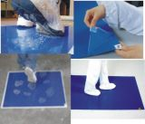 Couvre-tapis de porte visqueux remplaçable de couvre-tapis collant de pièce propre