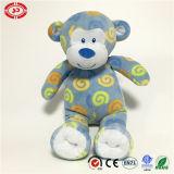 Giocattolo ricamato blu della scimmia della peluche farcito cotone degli occhi 100%