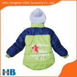 De Kinderen die van de manier de Groene Laag van de Winter van de Jongen van het Jasje kleden
