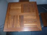 Верхняя часть таблицы напольного квадратного Teak деревянная