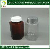Bottiglia vuota ambrata esagonale di plastica dell'animale domestico 100ml