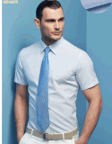 De Katoenen van de Mensen van de hoogste-kwaliteit Korte Overhemden van de Koker