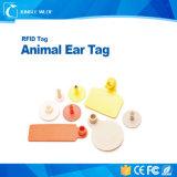 Vaca que segue o Tag de orelha eletrônico animal de RFID 125kHz Em4305