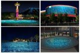 옥외 150W LED 물 표면 궤도 효력 건축 전등 설비