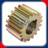 銅めっきの拍車ギヤ(C45鋼鉄)