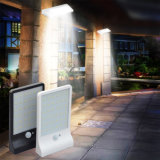 светильник обеспеченностью сада света датчика движения света PIR движения солнечной силы 450lm 36 СИД напольный