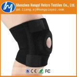 Fita elástica do laço de Velcro preto ajustável reusável de nylon