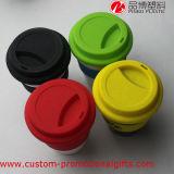 Tazza di plastica variopinta di promozione delle tazze di caffè di grande capienza