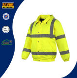 Куртка отражательной безопасности визави 2016 людей Hi водоустойчивая в желтой/померанце