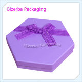 Caixa de empacotamento impressa venda por atacado do hexágono rígido do presente