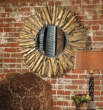 고대 금박 짜맞춰진 벽 미러에게 하는 최신 판매 장식적인 손