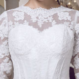 Long Sleeve Lace Real Photos Mermaid Wedding Dresses (TM-MS006)