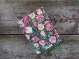 Cahier de Moleskine de couverture de fleur avec la bande élastique (XL-64K-LP-01)
