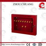 Una stazione disponibile dei 10 lucchetti di sicurezza della cremagliera del lucchetto del metallo