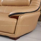 Sofà di Longue del Chaise di figura del cuoio genuino (896#)