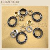 22mm 큰 둥근 금속 청바지를 위한 금관 악기 모조 다이아몬드 작은 구멍