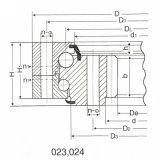 Anillo militar de la turbina de viento de los rodamientos de la ciénaga de la bola Skpc60-6 (76T)