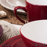 sistema de cena de cerámica del remolino del amarillo 16PCS