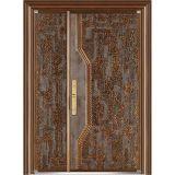 骨董品100%の実質の銅の青銅色のドアの弾丸の証拠の出入口の機密保護の両開きドア(M-B005)