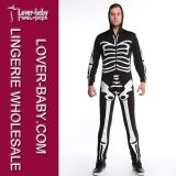 Costume squelettique de Veille de la toussaint de la combinaison des hommes (L15344)