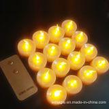 LED de alimentación de la batería sin llama vela de Tealight de regalo de cumpleaños