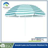 傘のタイプおよびステンレス鋼のポーランド人の物質的なビーチパラソル(SY1802-L)