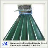 上塗を施してある波形の鋼鉄鉄の屋根ふきシートを着色しなさい