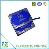Boîte-cadeau de luxe de tiroir de papier de logo d'or